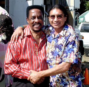 Rock and Roll Hall of Fame Founding Father, Ike Turner with Ray Cepeda. Rays' Newphew Armando Cepeda plays with Ike.