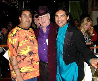 "Victor Castro, Los Mocosos and San Francisco Chronicle   Entertainment Editor and Rock critic Joel Selvin with Ray Cepeda. Joel gave Rays',  ""El Matrimonoa del Sol y Luna"",  CD 2 thumbs up."