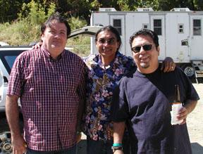 """Latin Rockers, David Hidalgo, Ray Cepeda with Cesar Rosas of Los Lobos""""."""