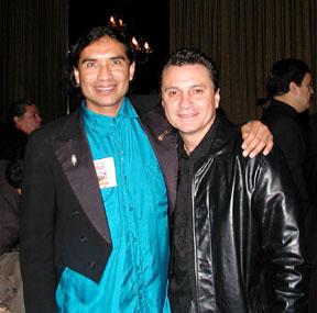 Ray Cepeda with Santana Percusionist, Karl Perazzo